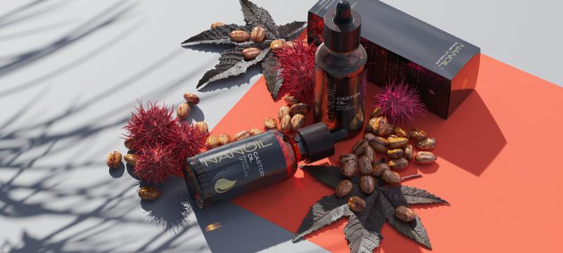 Nanoil Rizinusöl für mehr Haarglanz